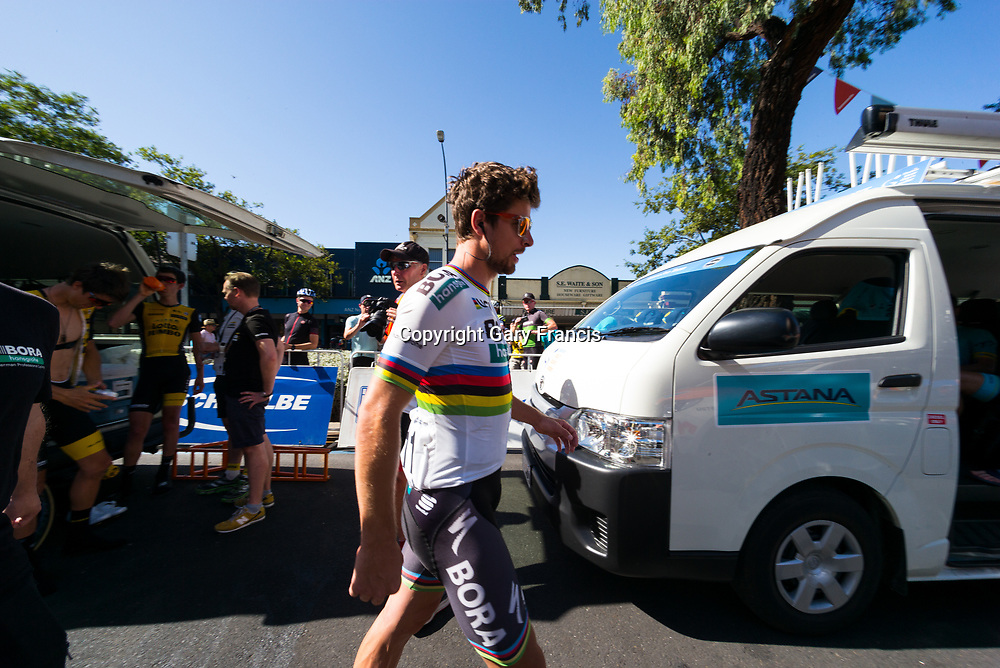 Peter Sagan after sign on to Stage 4, Norwood to Uraidla, of the Tour Down Under, Australia on the 19 of January 2018 ( Credit Image: © Gary Francis / ZUMA WIRE SERVICE )
