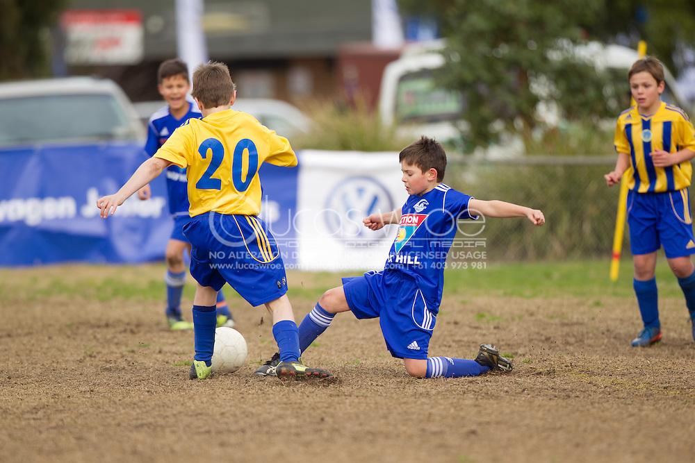 Beaumaris Soccer Club VS Box Hill United. Volkswagen Junior Masters Australia. Eastern Lions Soccer Club, Melbourne, Victoria, Australia. 08/07/2012. Photo By Lucas Wroe/Winkipop Media