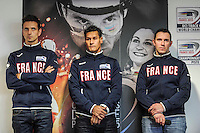 Samuel Rouyer / Laurent Gane / Franck Durivaux - 27.01.2015 -Entrainement Equipe de France de cyclisme sur piste - Saint Quentin en Yvelines <br /> Photo : Anthony Dibon / Icon Sport