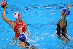 02.09.2010., Zagreb, CRO, LEN European Championship, Water Polo, Woman, Spain vs Hungary, im Bild Andrea Blas, Ildiko Toth. EXPA Pictures © 2010, PhotoCredit: EXPA/ nph/ Marko Prpic +++++ ATTENTION - OUT OF GERAMANY / GER +++++