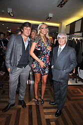 Left to right, TOM CHAPMAN Co-Founder of fashion stores Matches, PETRA ECCLESTONE and BERNIE ECCLESTONE at a party hosted by Petra Ecclestone at Matches, 87 Marylebone High Street, London on 7th September 2009.