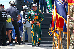 July 29, 2018 - Long Pond, PA, U.S. - LONG POND, PA - JULY 29:  Monster Energy NASCAR Cup Series driver Ryan Newman Bass Pro Shops/Cabela's Chevrolet (31) during driver introductions prior to the Monster Energy NASCAR Cup Series - 45th Annual Gander Outdoors 400 on July 29, 2018 at Pocono Raceway in Long Pond, PA. (Photo by Rich Graessle/Icon Sportswire) (Credit Image: © Rich Graessle/Icon SMI via ZUMA Press)