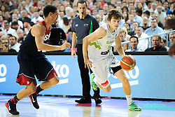 Jaka Klobucar of Slovenia during basketball match between National Teams of Slovenia and USA in Quarterfinals of FIBA Basketball World Cup Spain 2014, on September 9, 2014 in Palau Sant Jordi, Barcelona, Spain. Photo by Tom Luksys  / Sportida.com <br /> ONLY FOR Slovenia, France