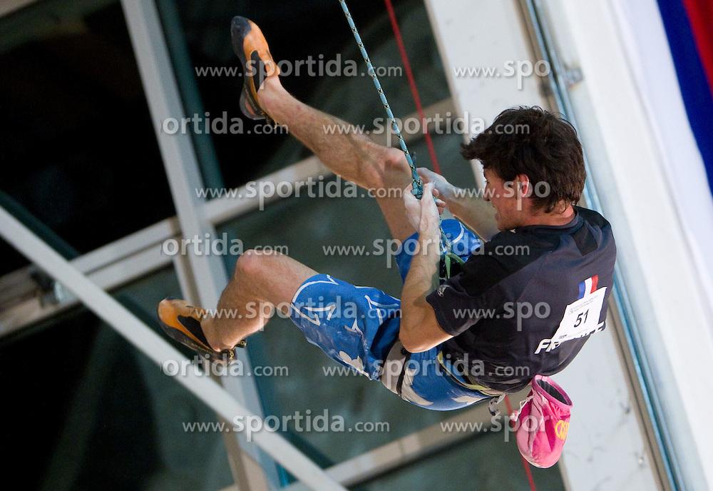 Manuel Romain of France during Final IFSC World Cup Competition in sport climbing Kranj 2010, on November 14, 2010 in Arena Zlato polje, Kranj, Slovenia. (Photo By Vid Ponikvar / Sportida.com)