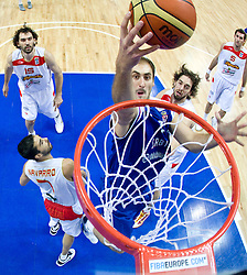 Nenad Krstic of Serbia during the EuroBasket 2009 Final match between Spain and Serbia, on September 20, 2009, in Arena Spodek, Katowice, Poland.   (Photo by Vid Ponikvar / Sportida)