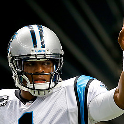 Dec 8, 2013; New Orleans, LA, USA; Carolina Panthers quarterback Cam Newton (1) prior to a game against the New Orleans Saints at Mercedes-Benz Superdome. Mandatory Credit: Derick E. Hingle-USA TODAY Sports