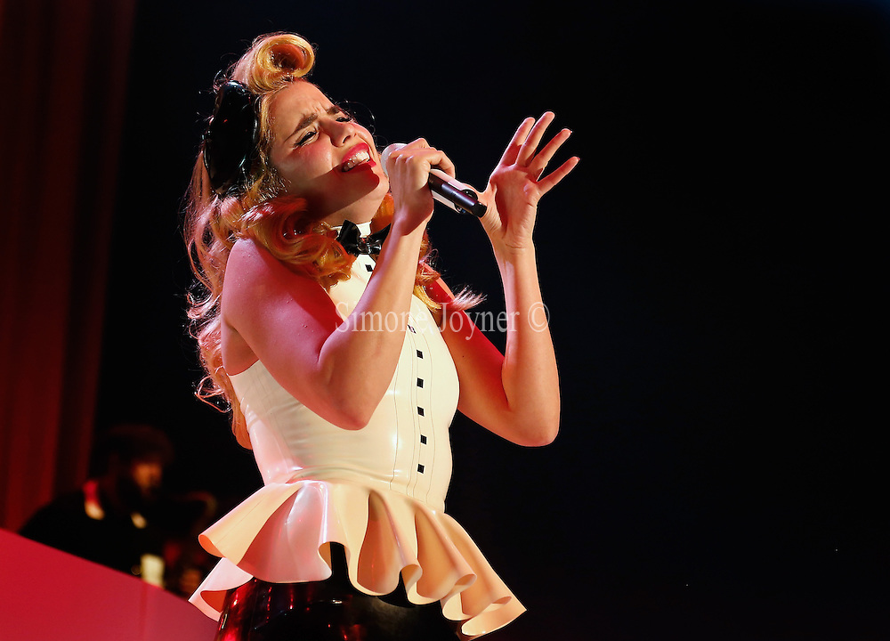 Paloma Faith performs live on stage at The Roundhouse on May 27, 2014 in London, England.  (Photo by Simone Joyner)