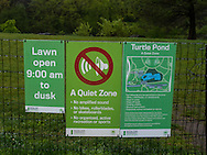 Signs in Central Park