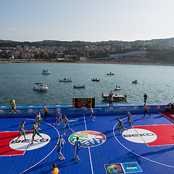 20130824: SLO, Basketball - Basketball match on a sea raft at Koper