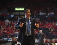 "Kentucky Head Coach John Calipari at the C.M. ""Tad"" Smith Coliseum in Oxford, Miss. on Tuesday, February 1, 2011. Ole Miss won 71-69."