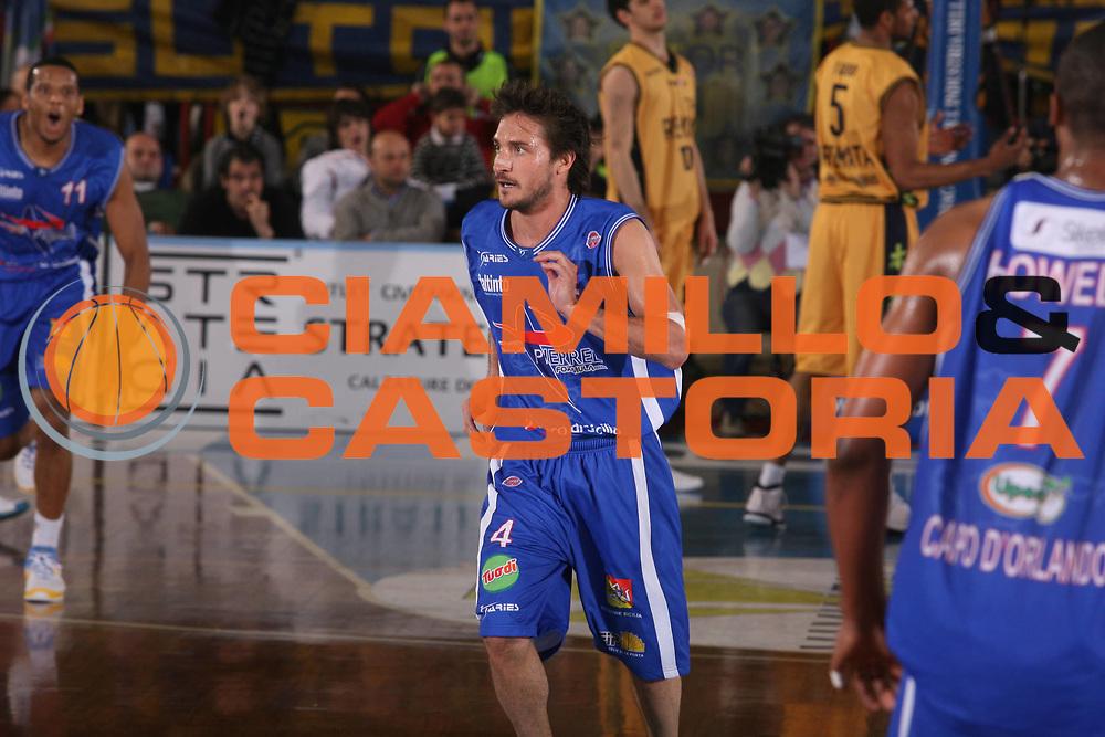 DESCRIZIONE : Porto San Giorgio Lega A1 2007-08 Premiata Montegranaro Pierrel Capo Orlando <br /> GIOCATORE : Gianmarco Pozzecco <br /> SQUADRA : Pierrel Capo Orlando <br /> EVENTO : Campionato Lega A1 2007-2008 <br /> GARA : Premiata Montegranaro Pierrel Capo Orlando <br /> DATA : 29/03/2008 <br /> CATEGORIA : Ritratto <br /> SPORT : Pallacanestro <br /> AUTORE : Agenzia Ciamillo-Castoria/G.Ciamillo
