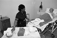 Nurse and patient at Nether Edge Hospital, Sheffield.