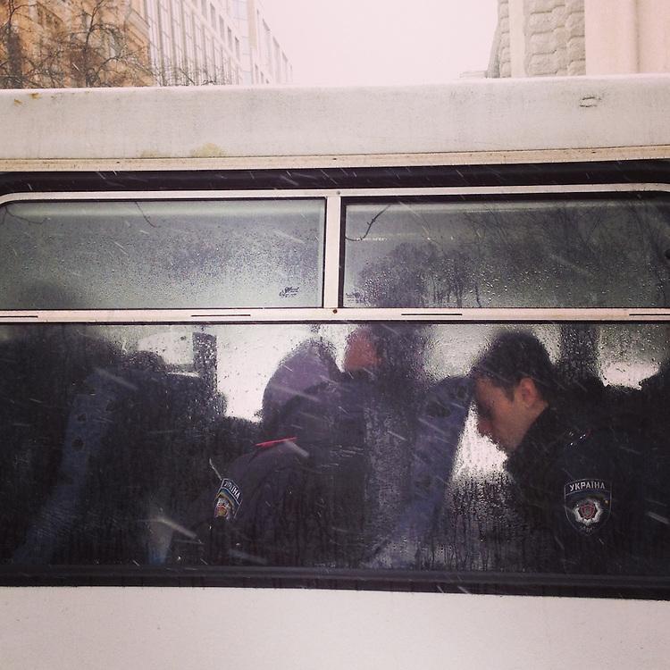 I think the police are bored, Dec. 6, 2013. #kyiv #kiev #ukraine #Україна #primecollective #евромайдан