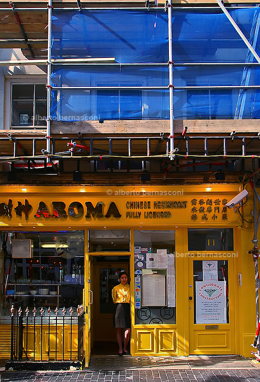 England, London: chinese restaurant in Wardour street , china town