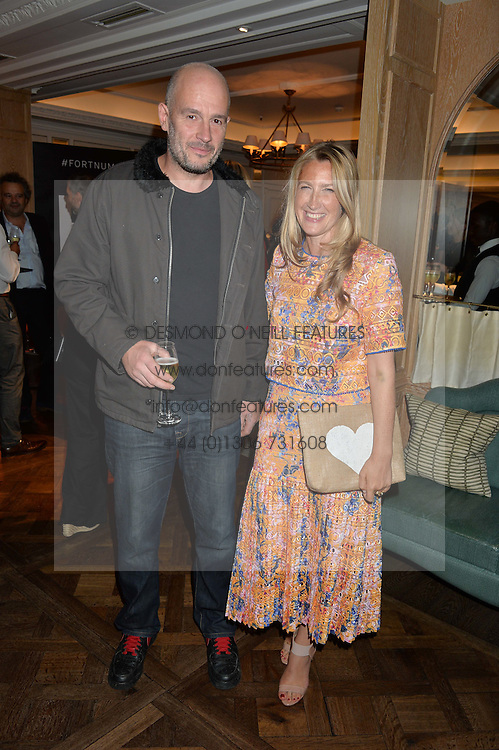 Left to right, JAKE CHAPMAN and GEORGINA COHEN at a the Fortnum's X Frank private view - an instore exhibition of over 60 works from Frank Cohen's collection at Fortnum & Mason, 181 Piccadilly, London on 12th September 2016.