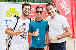 Miha Mlakar, Andraz Bedene and Gregor Krusic at Petrol VIP tournament 2018, on May 24, 2018 in Sports park Tivoli, Ljubljana, Slovenia. Photo by Vid Ponikvar / Sportida