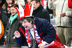Munich, Germany - Wednesday, March 7, 2007: A Bayern Munich fan during the UEFA Champions League First Knock-out Round 2nd Leg at the Allianz Arena. (Pic by Christian Kolb/Propaganda/Hochzwei) +++UK SALES ONLY+++