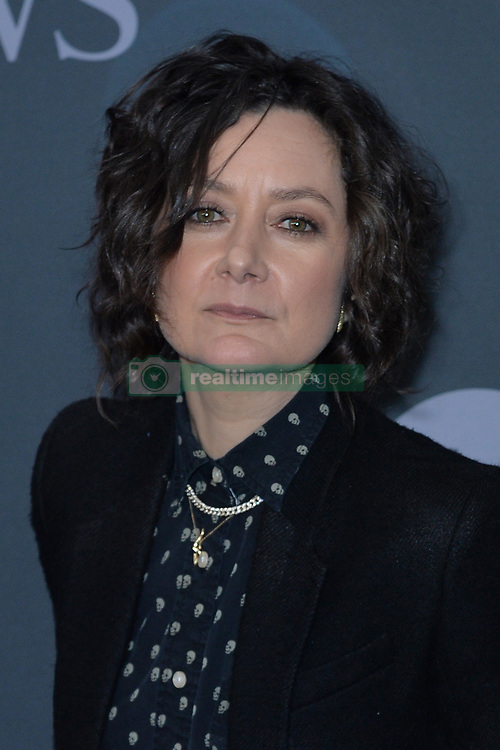 May 14, 2019 - New York, NY, USA - May 14, 2019  New York City..Sara Gilbert attending Walt Disney Television Upfront presentation party arrivals at Tavern on the Green on May 14, 2019 in New York City. (Credit Image: © Kristin Callahan/Ace Pictures via ZUMA Press)