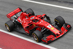 February 26, 2018 - Barcelona, Catalonia, Spain - February 26, 2018 - Circuit de Barcelona-Catalunya, Montmelo, Spain - Formula One preseason 2018; Kimi RAIKKONEN of Team Scuderia Ferrari, Ferrari SF71H. (Credit Image: © Eric Alonso via ZUMA Wire)