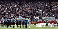 """a Minute of silence for memory of former inter player Lorenzi<br /> <br /> Un minuto di silenzio in memoria di Lorenzi detto Veleno<br /> <br /> Italian """"Serie A"""" 2006-07 <br /> <br /> 11 Mar 2007 (Match Day 28) <br /> <br /> Inter Milan (2-1) <br /> <br /> """"Giuseppe Meazza"""" Stadium-Milano-Italy <br /> <br /> Photographer Andrea Staccioli INSIDE"""