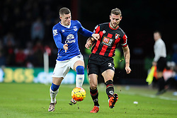 Ross Barkley of Everton tackles Simon Francis of Bournemouth - Mandatory by-line: Jason Brown/JMP - Mobile 07966 386802 28/11/2015 - SPORT - FOOTBALL - Bournemouth, Vitality Stadium - AFC Bournemouth v Everton - Barclays Premier League