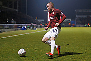 Nicky Adams on the ball during the The FA Cup match between Northampton Town and Derby County at the PTS Academy Stadium, Northampton, England on 24 January 2020.