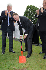 Christchurch - New cricket pitch sod turning