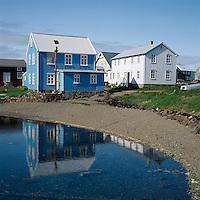 Húsin Vogur og Ásgarður í Flatey.