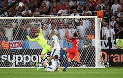 Adam Lallana of England yes his shot well saved by Matus Kozacik of Slovakia - Mandatory by-line: Joe Meredith/JMP - 20/06/2016 - FOOTBALL - Stade Geoffroy Guichard - St Etienne, France - Slovakia v England - UEFA European Championship Group B