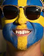 LUBLIN, POLEN 2017-06-19<br /> En svensk supporter under UEFA U21 matchen mellan Polen och Sverige den 19 juni p&aring; Arena Lublin, Polen.<br /> Foto: Nils Petter Nilsson/Ombrello<br /> Fri anv&auml;ndning f&ouml;r kunder som k&ouml;pt U21-paketet.<br /> Annars Betalbild.<br /> ***BETALBILD***
