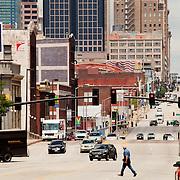 Looking northward up Grand Avenue, downtown Kansas City, Missouri.