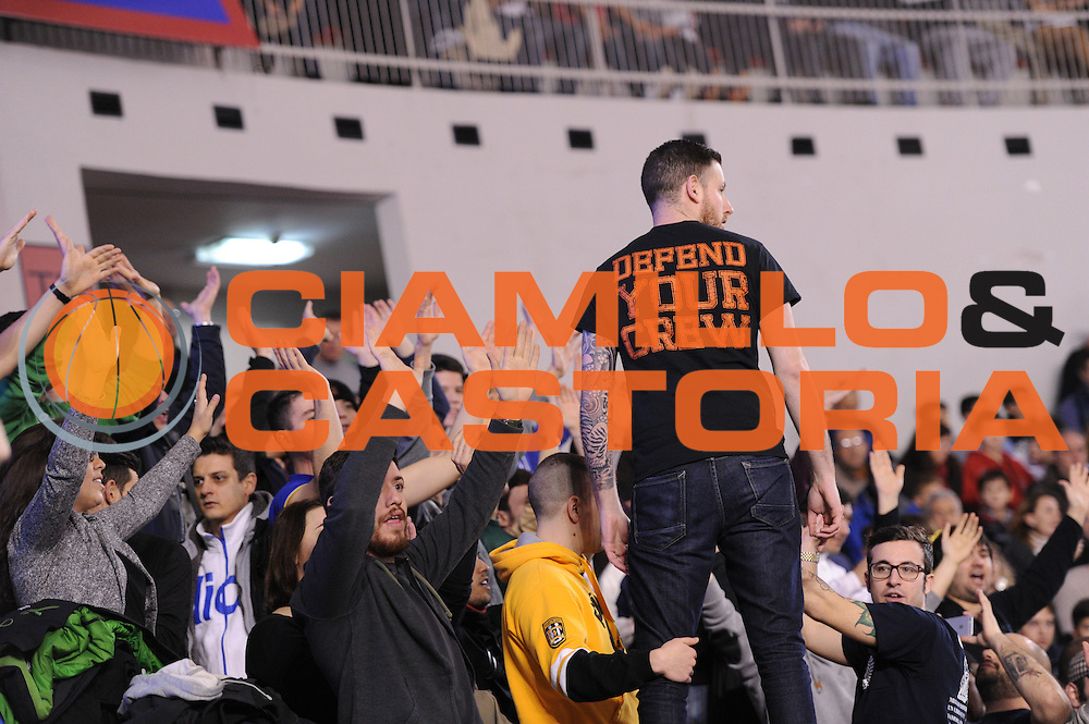 DESCRIZIONE : Roma Lega A 2014-15 Acea Roma EA7 Emporio Armani Milano<br /> GIOCATORE : Tifosi<br /> CATEGORIA : Pubblico Tifosi Spettatori Ultras spettacolo coreografia<br /> SQUADRA : Acea Roma<br /> EVENTO : Campionato Lega A 2014-2015<br /> GARA : Acea Roma EA7 Emporio Armani Milano<br /> DATA : 21/12/2014<br /> SPORT : Pallacanestro <br /> AUTORE : Agenzia Ciamillo-Castoria/G.Masi<br /> Galleria : Lega Basket A 2014-2015<br /> Fotonotizia : Roma Lega A 2014-15 Acea Roma EA7 Emporio Armani Milano