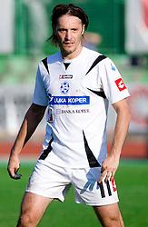 Miran Pavlin of Koper at the football match Interblock vs NK Luka Koper in 12th Round of Prva liga 2009 - 2010,  on October 03, 2009, in ZSD Ljubljana, Ljubljana, Slovenia. Luka Koper won 1:0.  (Photo by Vid Ponikvar / Sportida)