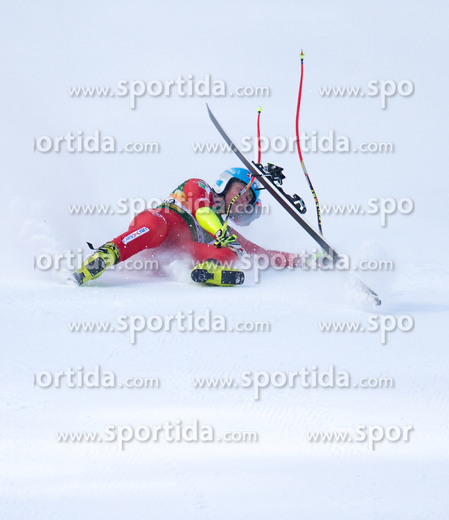 19.01.2015, Olympia delle Tofane, Cortina d Ampezzo, ITA, FIS Weltcup Ski Alpin, Super G, Damen, im Bild Daniela Merighetti (ITA) Stürzt // Daniela Merighetti of Italy crashes during the ladies SuperG of the Cortina FIS Ski Alpine World Cup at the Olympia delle Tofane course in Cortina d Ampezzo, Italy on 2015/01/19. EXPA Pictures © 2015, PhotoCredit: EXPA/ Johann Groder