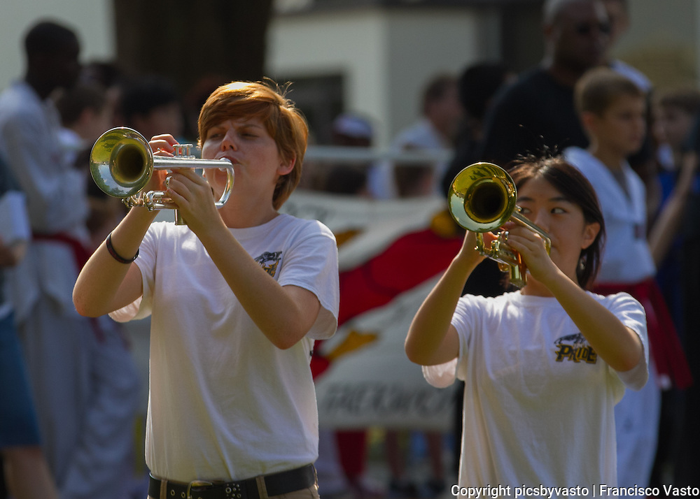 Pride of Providence Marching Band participates in the annual Matthews Alive Labor Day Parade September 2013