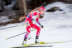 Hilde Fenne (NOR) during Women 12.5 km Mass Start at day 4 of IBU Biathlon World Cup 2015/16 Pokljuka, on December 20, 2015 in Rudno polje, Pokljuka, Slovenia. Photo by Urban Urbanc / Sportida