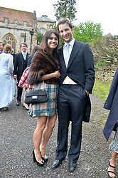 at the wedding of Princess Florence von Preussen second daughter of Prince Nicholas von Preussen to the Hon.James Tollemache youngest son of the 5th Lord Tollemache held at the Church of St.Michael & All Angels, East Coker, Somerset on 10th May 2014.