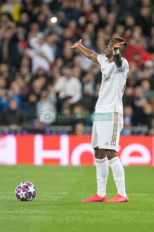 Real Madrid's Vinicius Junior during the UEFA Champions League round of 16 first leg match Real Madrid v Manchester City at Santiago Bernabeu stadium on February 26, 2020 in Madrid, Sdpain. Real was defeated 1-2. Photo by David Jar/AlterPhotos/ABACAPRESS.COM