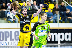 10.12.2017, BSFZ Suedstadt, Maria Enzersdorf, AUT, HLA, SG INSIGNIS Handball WESTWIEN vs Bregenz Handball, Hauptrunde, 16. Runde, im Bild Povilas Babarskas (Bregenz Handball), Viggo Kristjansson (SG INSIGNIS Handball WESTWIEN) // during Handball League Austria 16 th round match between SG INSIGNIS Handball WESTWIEN and Bregenz Handball at the BSFZ Suedstadt, Maria Enzersdorf, Austria on 2017/12/10, EXPA Pictures © 2017, PhotoCredit: EXPA/ Sebastian Pucher