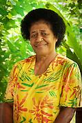 Bulou Talili, owner of Bulou's Eco Lodge, Navala Village, Viti Levu Island, Fiji.