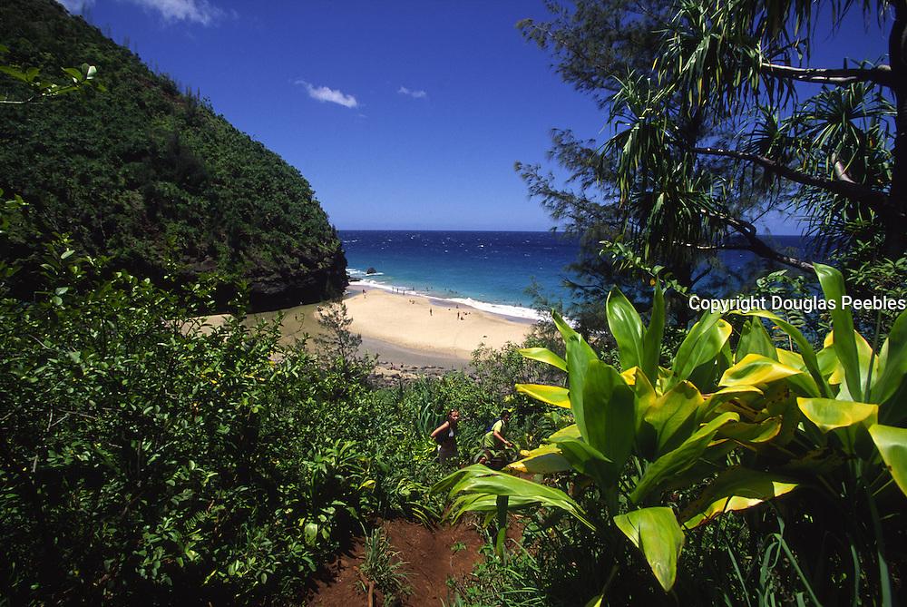 Hanakapiai Beach, Napali Coast, Kauai, Hawaii<br />