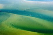 Nederland, Friesland, Waddenzee, 05-08-2014; vaargeul door Waddenzee bij hoogwater. Waddenzee met ondiepten en platen<br />