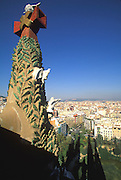 SPAIN, BARCELONA, GAUDI Sagrada Familia Cathedral, christmas tree