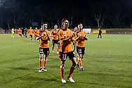 SYDNEY, AUSTRALIA - AUGUST 07: Brisbane Roar thank the crowd during the FFA Cup round of 32 football match between Sydney FC and Brisbane Roar FC on August 07, 2019 at Leichhardt Oval in Sydney, Australia. (Photo by Speed Media/Icon Sportswire)
