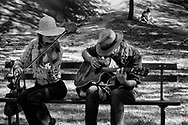 Violin and guitar players in Central Park