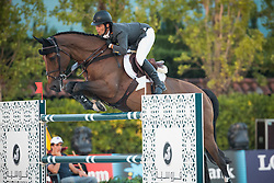 Alvarez Moya Sergio (ESP) - Action Breaker<br /> Final First Competition<br /> Furusiyya FEI Nations Cup™ Final - Barcelona 2014<br /> © Dirk Caremans<br /> 09/10/14