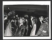 Lady Henrietta Bathurst at the Cinderella Ball. Dorchester Hotel. December 1980.Exhibition in a Box