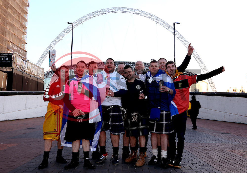 Scotland fans at Wembley - Mandatory by-line: Robbie Stephenson/JMP - 11/11/2016 - FOOTBALL - Wembley Stadium - London, United Kingdom - England v Scotland - European World Cup Qualifiers