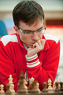 Mateusz Bartel from Poland during European Team Chess Championships 2013 at Novotel Hotel in Warsaw on November 10, 2013.<br /> <br /> Poland, Warsaw, November 10, 2013<br /> <br /> Picture also available in RAW (NEF) or TIFF format on special request.<br /> <br /> For editorial use only. Any commercial or promotional use requires permission.<br /> <br /> Mandatory credit:<br /> Photo by © Adam Nurkiewicz / Mediasport