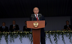 June 12, 2017 - Moscow, Russia - Russian President Vladimir Putin addresses a holiday reception marking Russia Day in the Kremlin June 12, 2017 in Moscow, Russia. The event took place as tens of thousands of protesters took part in hundreds of rallies across Russia denouncing Putin and corruption. (Credit Image: © Alexei Druzhinin/Planet Pix via ZUMA Wire)